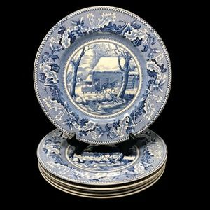 Vintage Johnson Bos. Historic Collection Plates 6